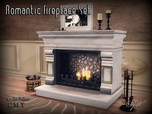 GW Romantic Fireplace Set with 49 Animations
