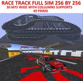RACE TRACK full sim size TXT Track 1 w/ Supports 49 prims