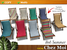 Beach Chair Hot Summer ♥ CHEZ MOI