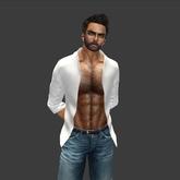GG Mesh Men's Open Shirt- White
