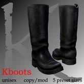 Kboots- black - engineer/biker boots