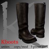 Kboots- brown - engineer/biker boots