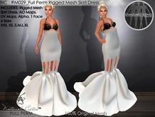 NC : #M029_Full Perm High Waist Rigged Skirt Dress