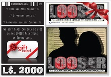 █║▌LOOSER ║▌║® // 2000 L$ - STORE GIFT CARD - TRANSFERT //