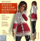 mesh - hooded cardigan #
