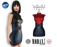 ::M.O.D.A.N.M.E.S.H.::Laila Belted Outfit Red