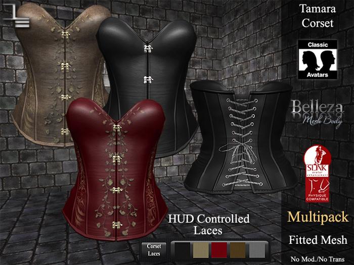DE Designs - Tamara Corset - Leather Multipack
