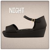 {Mango Cheeks} Kilo Sandals: Night (Slink FLAT)