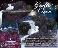 MG Large Grotto Cave w/ Scripted Waterfall & Fog Effects
