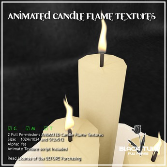 [Black Tulip] Textures - Animated Candle Flames