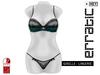erratic / giselle - lingerie / green