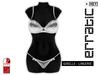 erratic / giselle - lingerie / white