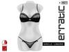 erratic / giselle - lingerie / black
