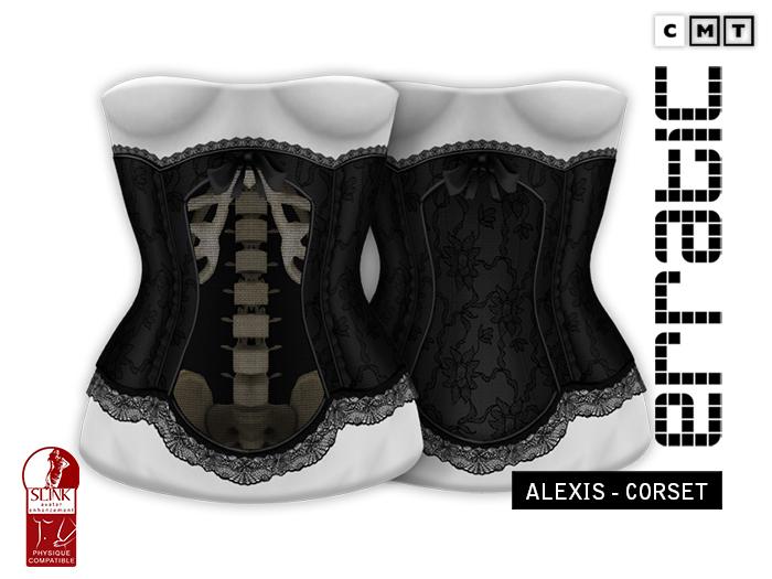 erratic / alexis - corset / black