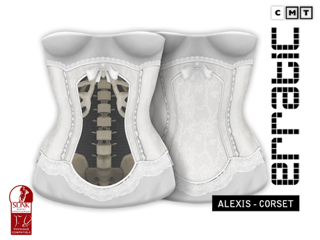 erratic / alexis - corset / white