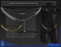 POMPOSITY - Inverted Link Traffic Belly Chain /Belt - BOXED - Waist Chain