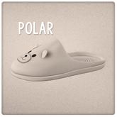 {Mango Cheeks} Teddy Slippers: Polar Bear (Slink FLAT)