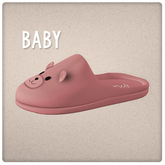 {Mango Cheeks} Teddy Slippers: Baby Bear (Slink FLAT)