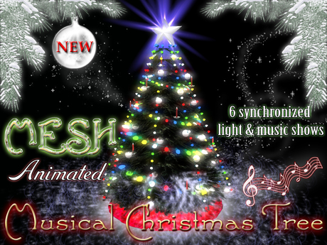 Christmas Tree with Synchronized Lights and Music  - Decorate, Gift Unwrapping and Hot Cocoa drinking animations