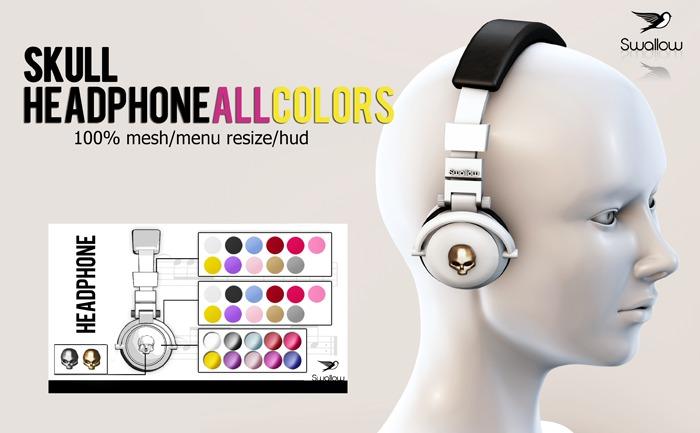 GIFT ^^Swallow^^ Headphone Skull (HUD)