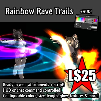 :Frio's: Rainbow Trails Rave Attachments + HUD