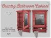 [noctis] Lil vintage cabinet redwood BOXED