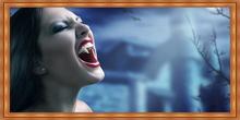Arte de pared. Cuadro Mujer vampiro 02