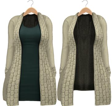 Blueberry - Babi - Belleza Venus & Slink Physique Compatible - Cardigan with Optional Dress Olive