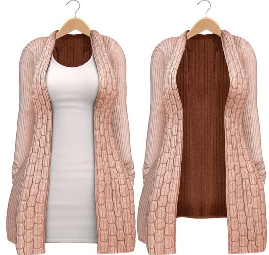 Blueberry - Babi - Belleza Venus & Slink Physique Compatible - Cardigan with Optional Dress Pixie
