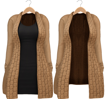 Blueberry - Babi - Belleza Venus & Slink Physique Compatible - Cardigan with Optional Dress Tan