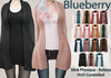 Blueberry - Babi - Belleza Venus & Slink Physique Compatible - Cardigan with Optional Dress FAT PACK
