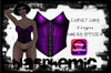 Corset Luna by BLASPHEMIC -purple -