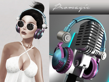 *PROMAGIC* Headphones- BluePink