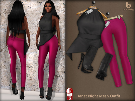 Bens Boutique - Janet Night Mesh Outfit