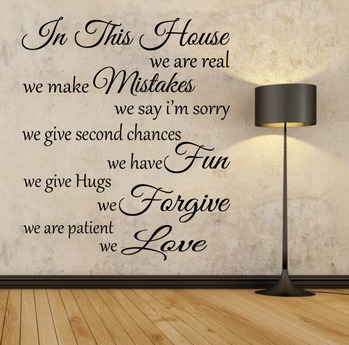 .:{ MG }:.  In This House - Wall Decal