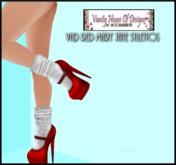 *VHD MJ Heels w/White Socks - Red