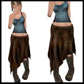 CHAVSHOPE - Ragged Hem Skirts 2