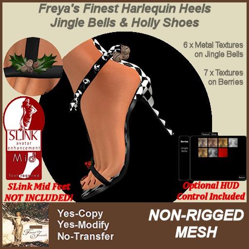 Freya's Finest SLink MID Jingle & Holly Shoes