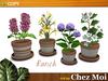 Set Potted Flowers Ranch ♥ CHEZ MOI