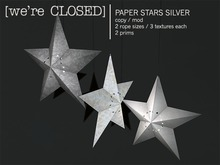 [we're CLOSED] paper stars silver