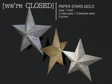 [we're CLOSED] paper stars gold