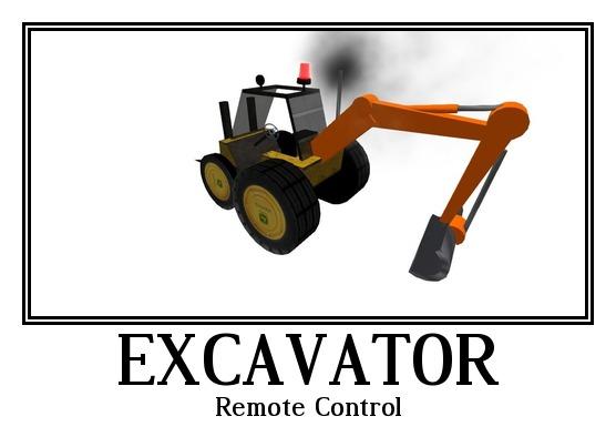 Bobcat , Excavator <--> Remote Control <--> Under Construction