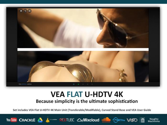 VEA FLAT 4K Media Video Television Movies Youtube Shoutcast Radio