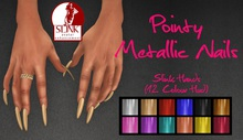 IAF Pointy Metallic Nails (Slink Hands) (Elegant 1)