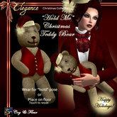 C&F Xmas Teddy w/ Pose