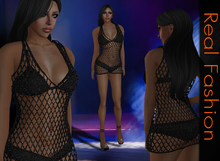 REAL FASHION Net set - BLACK