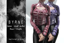 (BYRNE) Gator Rose/Purple Mesh Ladies Jackets