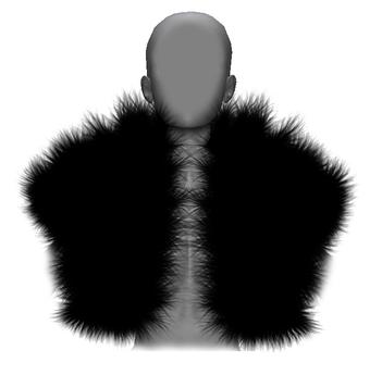 Graffitiwear Black Fur Bolero