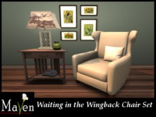 Waiting in the Wingback Chair Set - Living Room Furniture