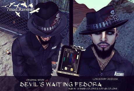 7mad;Ravens Devil's Waiting Fedora